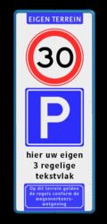 Koptekst + 2x Verkeersteken + 3 tekstregels + Ondertekst