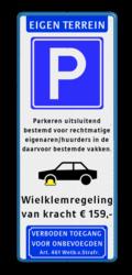 Koptekst + Verkeersteken + 4 tekstregels + Pictogram + tekstregels + Ondertekst