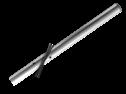 Verkeersbordpaal rechte buis - 3200mm boven de grond - Aluminium