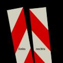 Kaderrand Aluminium AKTIERAAM 300mm rood/wit klasse 3