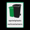Informatiebord - Opstelplaats vuilcontainers