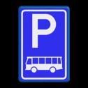 Verkeersbord RVV E08d - Parkeerplaats bussen