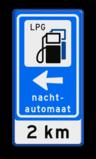 Verkeersbord RVV BW101_SP11 + nachtautomaat + OB401