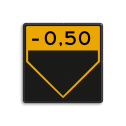 Scheepvaartbord BPR G. 5.1c - Aanduiding onderhoogte geel/zwart