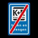 Verkeersbord RVV L52e - K+R - einde