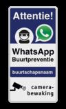 WhatsApp Attentie Buurtpreventie Informatiebord 03 - L209wa-b