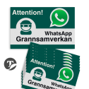 WhatsApp - Sweden - Grannsamverkan Reflecterende stickers (set 10 stuks) - L209wa