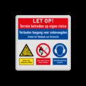 Veiligheidsbord | 3 symbolen + banners
