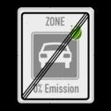 Zonebord einde ZERO Emissie - milieuzone