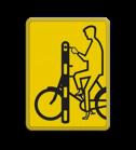 Verkeersbord Model VR01 geel/zwart - 200x270mm - Fietsers