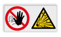 Veiligheidsbord   2 symbolen
