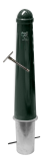 Hagenaartje Ø164x750mm met grondstuk - RAL6012 inclusief wapen