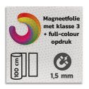 Magneetbord reflecterend klasse 3 met full colour opdruk