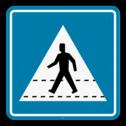 Verkeersbord SB250 F49 - Oversteekplaats voetgangers