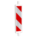 Geleidebaken type B rood wit (dubbelzijdig reflecterend klasse 2)