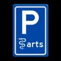 Verkeersbord RVV E08 arts - Parkeerplaats arts