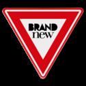 logobord driehoek met EIGEN ONTWERP aanleveren