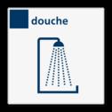Bord services douche - Reflecterend