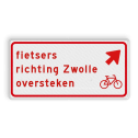 Verkeersbord RVV BW09rb - fietsers richting plaats oversteken