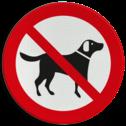 Verkeersbord Loslopende honden verboden