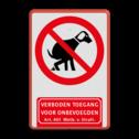Verbodsbord Honden verboden met Verboden Toegang Art. 461