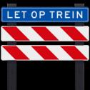 Spoorwegovergang hekwerk voor onbewaakte overgang - linkse uitvoering - klasse 3 reflecterend