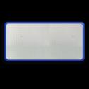 Basisbord omgezette rand - type 3:1 - rechthoek reflecterend blank, blanco, onbeplakt verkeersbord, onafgewerkt bord, halffabrikaat, zelf beletteren, reclamebord, bordmodel