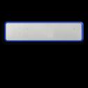 Basisbord omgezette rand parkeerplaatsbord - reflecterend blank, blanco, onbeplakt verkeersbord, onafgewerkt bord, halffabrikaat, zelf beletteren, reclamebord, bordmodel