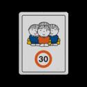 Dick Bruna - Attentiebord Snelheid - groepje kinderen