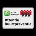 Verkeersbord L209f WhatsApp Buurtpreventie - 03 L209 Whats App, WhatsApp, watsapp, preventie, attentie, OV0495, L209, Buurt