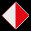 Scheepvaartbord Verboden buiten de aangegeven begrenzing te varen. Het teken bestaat altijd uit twee borden en wordt toegepast ter markering van de breedte van het vaarwater in een brugopening. Het geeft aan welke wijdte de scheepvaart in de doorvaartopening ter beschikking staat. Het teken schrijft dwingend voor, dat niet buiten de aangegeven begrenzing mag worden gevaren. Dit teken is de tegenhanger van teken D.2 (Aanbeveling). Het teken kan worden toegepast als het onderwatergedeelte van de peilers een gevaar oplevert voor de scheepvaart of moet worden beschermd. Scheepvaartbord BPR A.10 - Verboden buiten de aangegeven begrenzing te varen A.10 A9, water, verboden buiten de begrenzing te varen, BPR, verbodstekens, verbodsborden, waterweg, waterwegen, scheepvaarttekens, verkeerstekens,