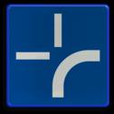 Verkeersbord B0: Onderbord om de curve van de weg aan te geven. Het mag geplaatst worden onder de borden B1, B3, B5, B7, B9 en B15 Verkeersbord België B00 - Onderbord curve weg B00