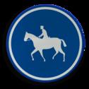 Verkeersbord D13: Verplichte weg voor ruiters. Verkeersbord België D13 - Verplichte weg voor ruiters D13 ruiters, paarden,