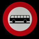 Verkeersbord C22: Verboden toegang voor autocars. Verkeersbord België C22 - Verboden toegang voor autocars C22 verbodsbord, verboden voor bussen, openbaar vervoer, c07b
