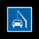 Scheepvaartbord Toestemming te meren voor het van of op aan boord zetten van een auto. De maximale toegestane tijdsduur hiervoor kan op een onderbord worden vermeld. Vaak is dit een kwartier. Scheepvaartbord BPR E. 7.1 - Toestemming te meren voor het van of aan boord zetten van een auto E. 7.1 auto, schip, aan boord, E7, E7.1, water, aanwijzingstekens, aanwijzingsborden, waterweg, waterwegen, scheepvaarttekens, verkeerstekens,
