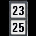 Huisnummerpaal met BORD Modern - Dubbel - klasse 3 buitengebied, huisnummer, nummer, huis, buiten, gebied, paal, Modern, huisnummerbord, Dubbel, Huisnummerpaal, Huisnummerpalen