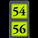 Huisnummerpaal met BORD Fluor Klassiek  - Dubbel - klasse 3 buitengebied, huisnummer, nummer, huis, buiten, gebied, paal, Klassiek, huisnummerbord, Dubbel, Fluor, Huisnummerpaal, Huisnummerpalen
