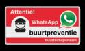 WhatsApp Attentie Buurtpreventie Informatiebord 05t - L209wa Whats App, WhatsApp, watsapp, preventie, attentie, buurt, L209