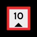 Scheepvaartbord Beperkte waterdiepte. Het teken geeft, voorzien van een getal, de aanwezige waterdiepte in centimeters en niet de toegestane diepgang van schepen aan. Scheepvaartbord BPR C. 1 - Beperkte waterdiepte C. 1 water, C1, diepgang, beperkingstekens, beperkingsborden, waterweg, waterwegen, scheepvaarttekens, verkeerstekens