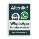 WhatsApp Attentie Buurtpreventie verkeersbord 02 - L209wa L209 Whats App, WhatsApp, watsapp, preventie, attentie, buurt, L209