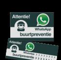 WhatsApp Buurtpreventie Reflecterende stickers ( set 10 stuks ) - L209wa Whats App, WhatsApp, watsapp, preventie, attentie, L209