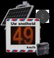 Snelheidsdisplay met zonnepaneel