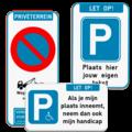 Parkeerborden privéterrein