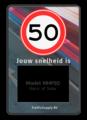Achtergrondschild max. snelheid