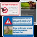 Informatieborden dieren