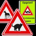 Diverse waarschuwingsborden