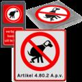 VERBODEN voor honden