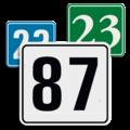 Losse huisnummerbordjes