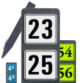 Paal met twee huisnummers