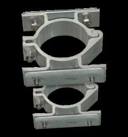 Bordbeugel dubbelzijdig (set 2 stuks) Ø60 mm vastmaken, bevestigen, beugelset